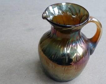 Carnival glass jug
