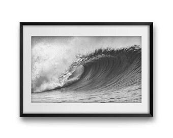 "Surf Art Print, Wave, Fine Art Photography, Canvas Art Print, Nature Photography, Large Wall Art Print, Wall Decor, ""The Wave""."