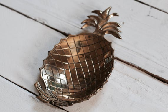 Brass Pineapple Ring Dish