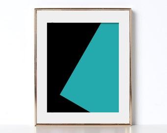 Geometric Print Digital Download Printable Art Graphic Design Print Andy Warhol Boho Wall Art Office Print Cubical Decor Home Decor Simple