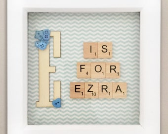 Personalised Initial Scrabble Frame