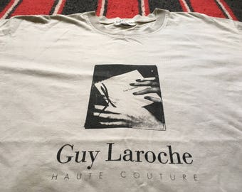 Vintage 90s Guy Laroche Photo Print T Shirt
