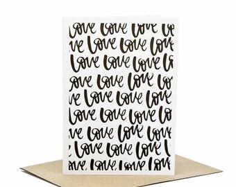 Love Love Love - Letterpress Greeting Card