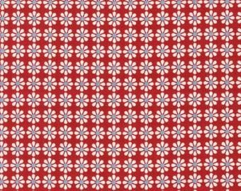 CHICK CHICK Organic KONA Cotton Fabric Robert Kaufman Flowers Nancy Mims for Mod Green Pod