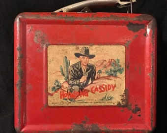 Vintage Hopalong Cassidy 1950 LUNCH BOX