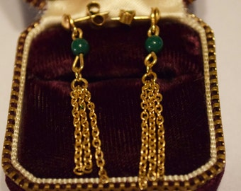 Vintage Dangling Chain Earrings