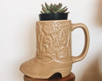 Boot Mug / Cowgirl Boot Mug / Boot Planter
