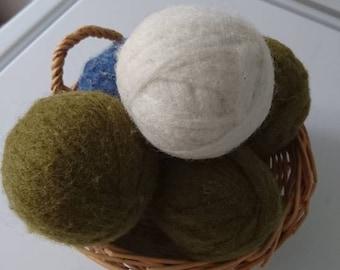 Homemade 100% Wool Dryer Balls