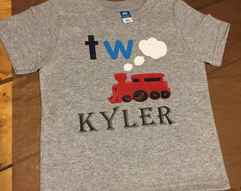 TWO Train Birthday Shirt