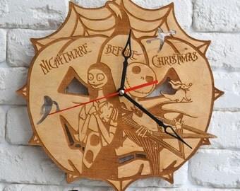 Jack Skellington Art Clock jack skellington party decor jack skellington costume jack skellington mask jack skellington birthday gift decal