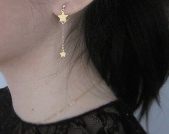 Adore Earrings, Gold Earring, 14k Gold Filled Earrings, Dangle & Drop Earrings, Star Earrings, Star Dangle, Gold Star Earrings