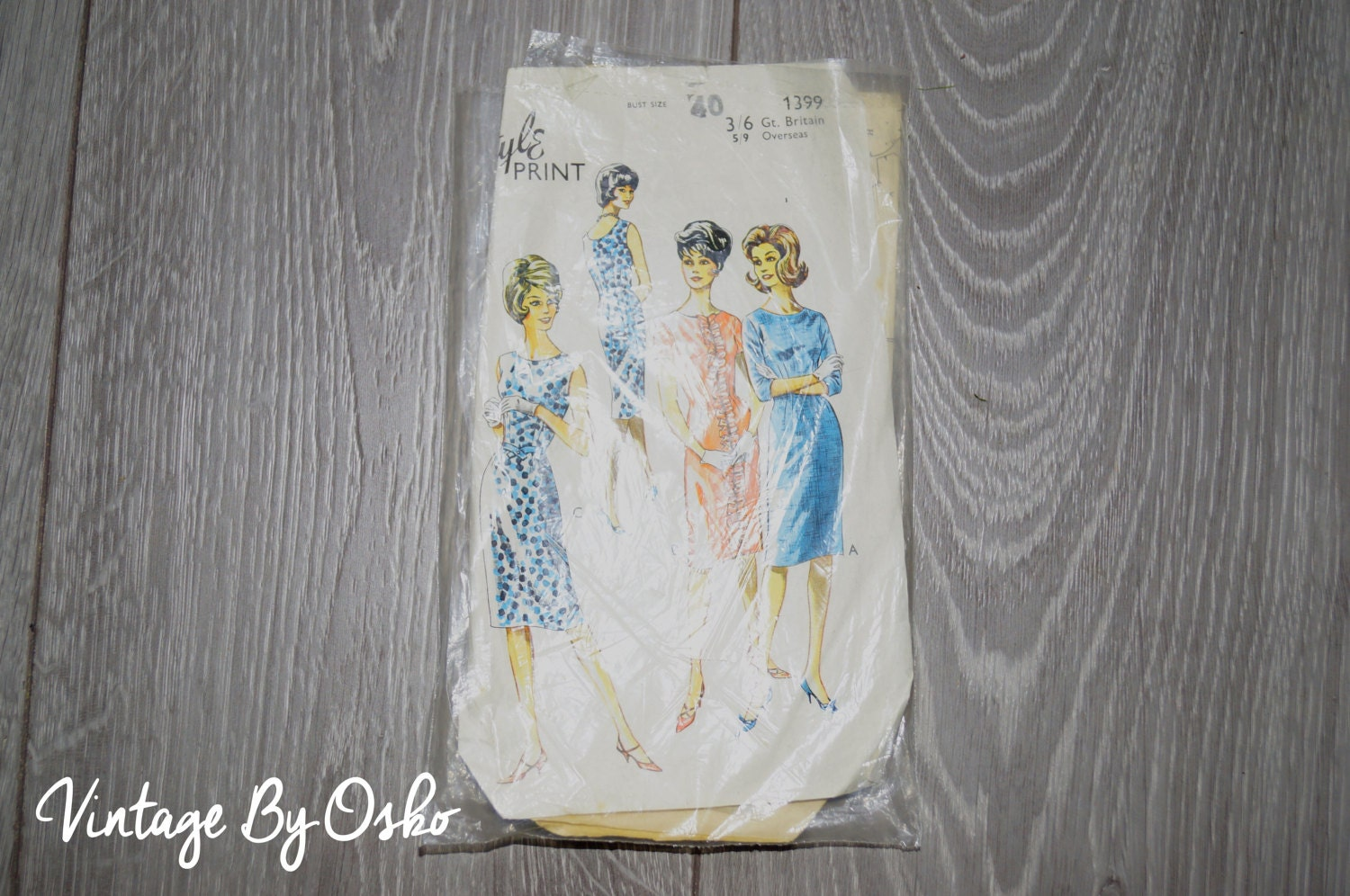 Vintage sewing pattern vintage dress style patterns ltd for Vintage sites like etsy