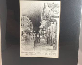 Don Davey Print - 1989 - 'French Quarter Nights New Orleans'
