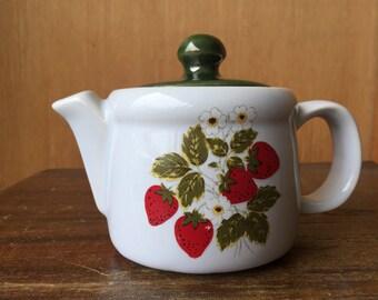 McCoy Strawberry Teapot