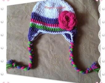 Warm Hat with Ear Flaps - Crochet