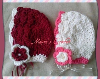 Cozy Flower Crochet Hat (Sold Individually)