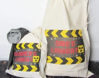 Mens Personalised Laundry Bag