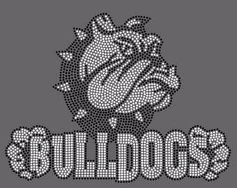 Rhinestone Bulldogs  Lightweight T-Shirt or DIY Iron On Transfer                        761M