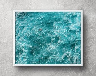 Aerial ocean photography, Printable art, Beach print, Waves poster, Beach wall art, Beach artwork, Ocean print, Ocean art, Beach decor