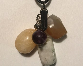 Assorted Gemstone Cluster Pendant