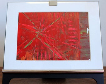 Red X Abstract Original Painting