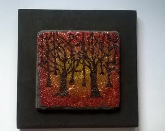 Secret woods glitter art