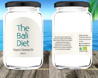 The Bali Diet Organic Coconut Oil