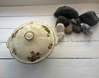 Vintage Alfred Meakin 1930s serving bowl with lid