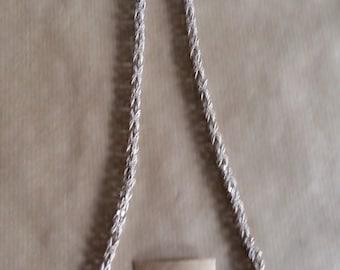 beautiful antique silver link chain. 76 cm long