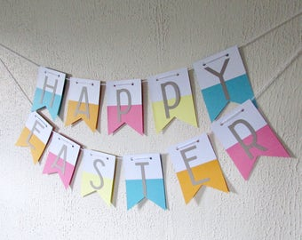 Easter Banner - 'Happy Easter' Banner - Easter Garland