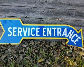 Antique Vintage Old Look Oldsmobile Service Entrance Sign Porcelain Look