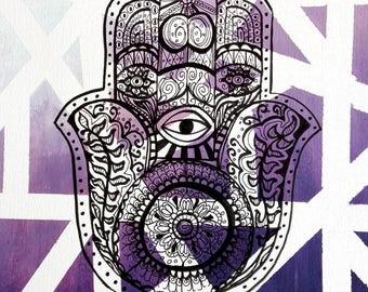Harmony hand, art print, print, print