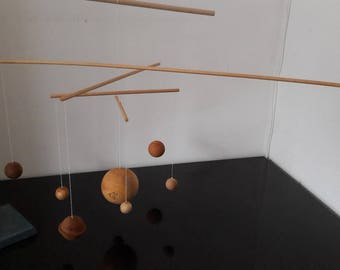 Solar system Moblie with Sun and eight planets-Windspiel-