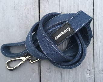 Natural Hemp Dog Lead. Organic eco friendly blue dog leash