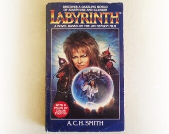 ACH Smith - Labyrinth - David Bowie fantasy fiction vintage paperback book - 1986