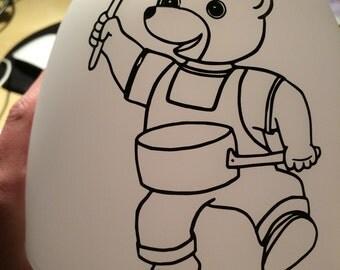 "Lamp nightstand ""Little brown bear"" + name"