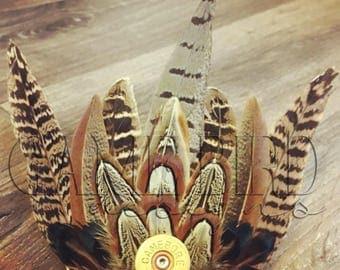 Large Pheasant Feather Hair Clip