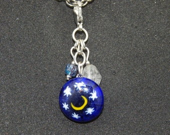 Blue Moon Necklace Charm