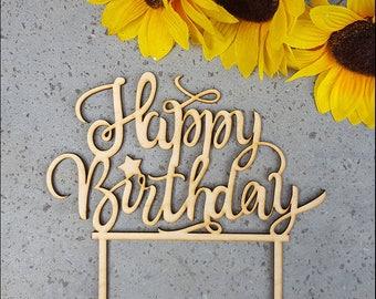 Cake Topper-Happy Birthday