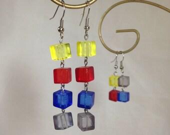 Pandemic-inspired Cube Dangle Earrings