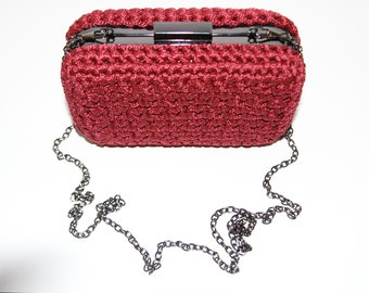 Clutch bag, Evening Bag, Handmade Thread Bag
