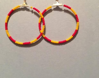 Red and Yellow Hoops