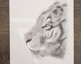 Tiger Watercolour Original Painting