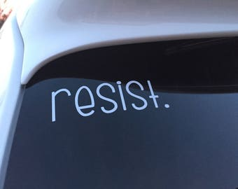 resist. decal