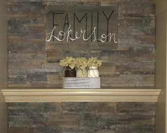 Family customizable wood sign