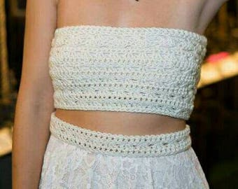 Handmade crochet tube top