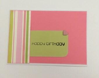 Handmade Card - Happy Birthday (HB20)