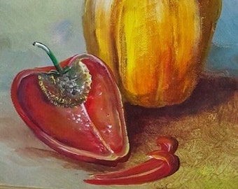 pepper oil painting