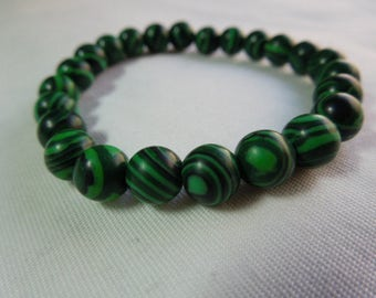 Natural Malachite beaded bracelet