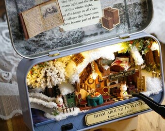Miniature DIY Doll House Kit with Handmade Furniture ~ 3D Miniature Doll House ~ Do it Yourself Doll House ~ Lovely Mini Doll Houses